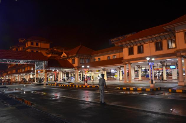 A night view of International terminal of Cochin International Airport Limited (CIAL). / Photo: Thulasi Kakkat / The Hindu