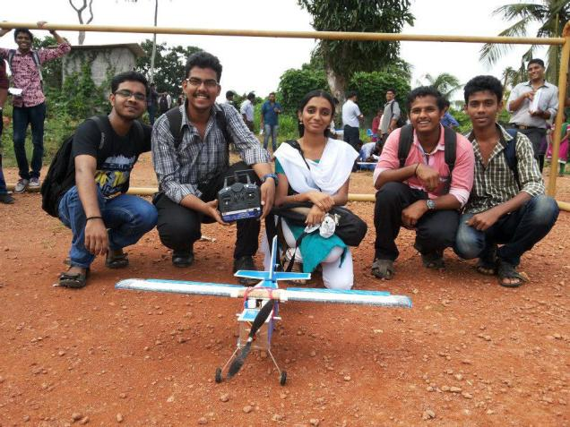 Participants of a workshop on radio-controlled aircraft with the models made by them, in Thiruvananthapuram recently. Photo: Special Arrangement / The Hindu