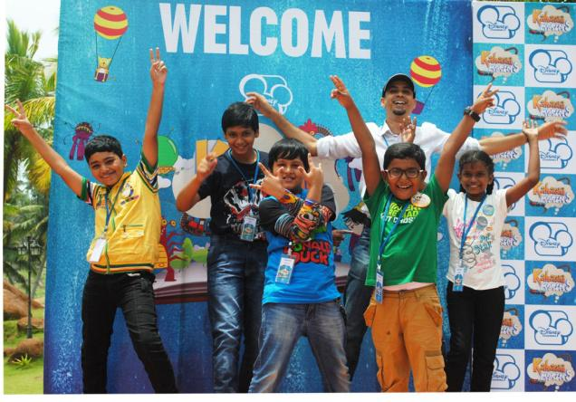 The five winners of the Toonz- Disney 'Kahaani Masters' contest in Thiruvananthapuram on Friday. Photo: Special arrangement / The Hindu