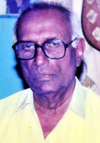 Veteran football player N.T. Karunakaran / The Hindu