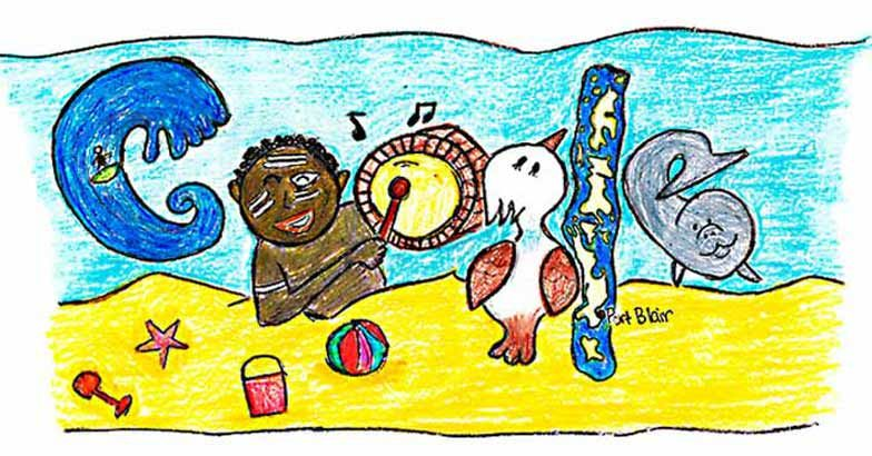 The Google Doodle designed by Reba Philip.