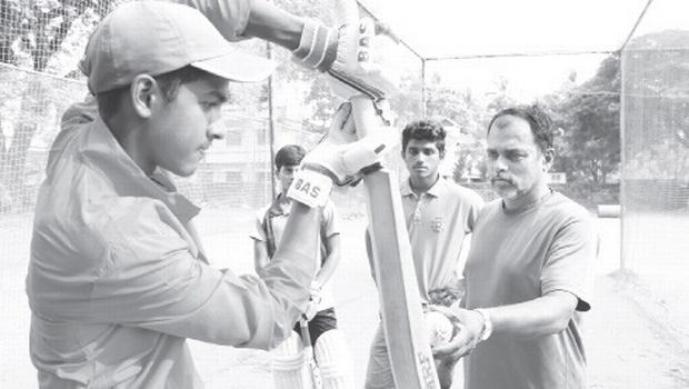 Santosh Kumar during a training session | t p sooraj