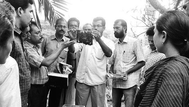 Participants at the programme on Beekeeping held at ICAR- Krishi Vigyan Kendra, Peruvannamuzhi