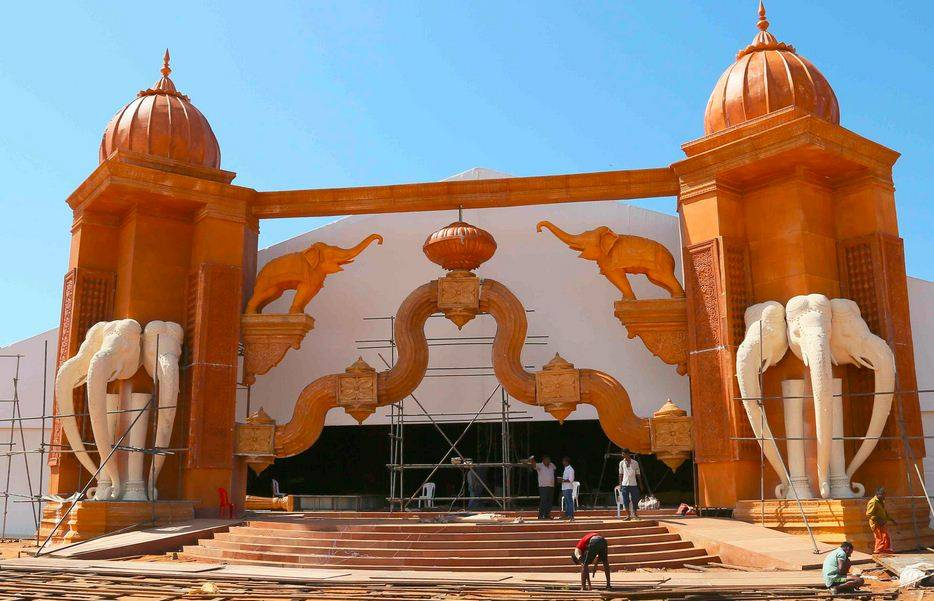 The main entrance of the pandal (TOI Photo)