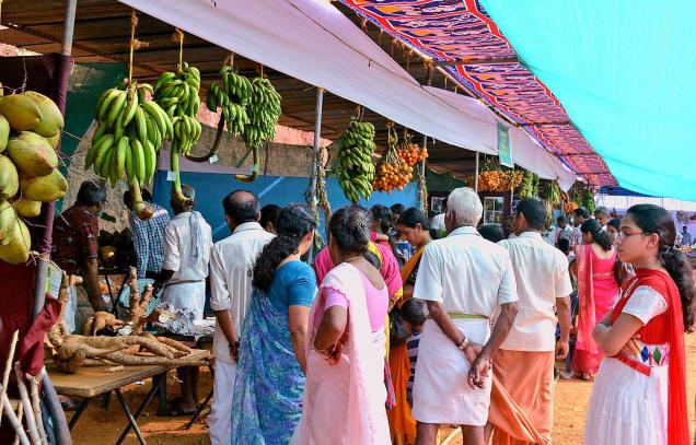 A view of the seed festival being organised by the Fair Trade Alliance Kerala at Karuvanchal in Kannur on Sunday.