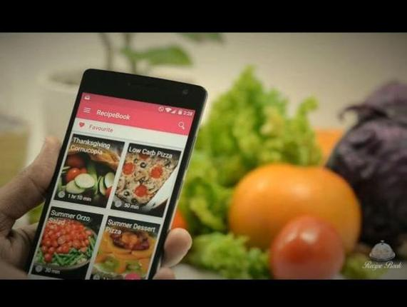 A screenshot from the video of the app.