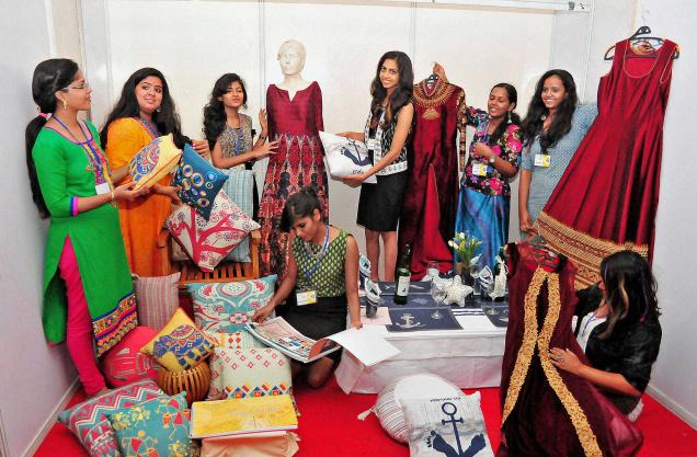 Design skills:Students of the National Institute of Fashion Technology, Kannur, holding an exhibition as part of the Graduation Show 2016 at Mangattuparambain Kannur on Thursday.– PHOTO: S.K. MOHAN