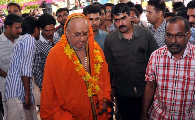 A March 2013 picture of Kesavananda Bharati. / The Hindu